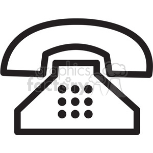 retro phone icon clipart. Royalty-free icon # 398324