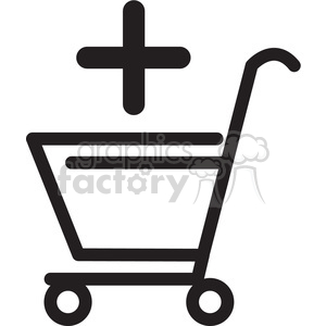 icon black+white symbol symbols shopping+cart add