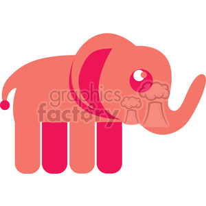 Pink Elephant vector image RF clip art clipart. Royalty-free icon # 398441