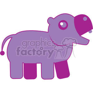 Purple_Hippo vector image RF clip art clipart. Royalty-free image # 398451