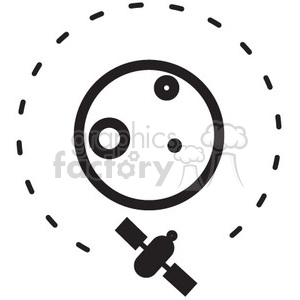 satellite orbiting earth vector icon clipart. Royalty-free image # 398501