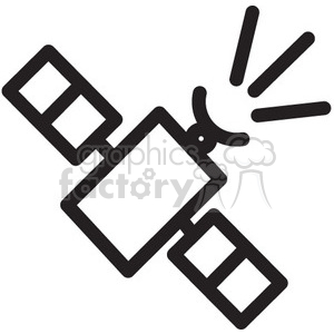 satellite sending signal vector icon clipart. Commercial use icon # 398511