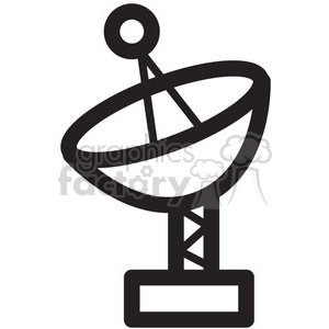 space icons black+white symbols telescope telescopes radar radars satellite satellites communication gps data