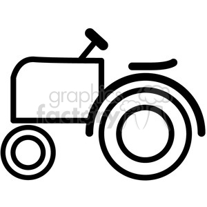 icons black+white outline vehicle transportation tractor