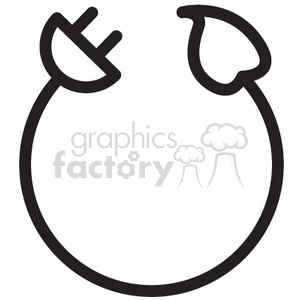 electric power cord vector icon clipart. Royalty-free image # 398551
