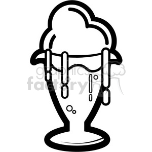 black and white ice cream clipart. Royalty-free image # 398786
