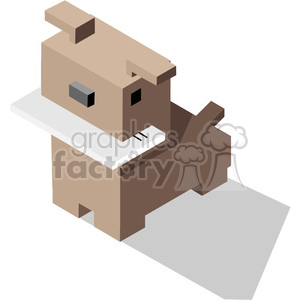 dog with mail in its mouth vector icon clipart. Royalty-free image # 398798