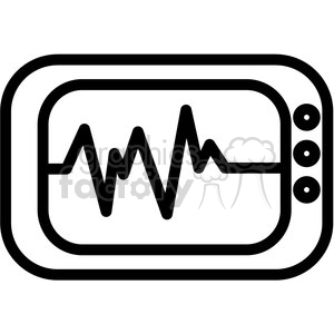 ekg machine vector icon clipart. Commercial use image # 398820