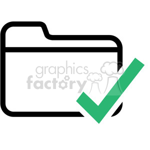 folder checked vector icon clipart. Royalty-free icon # 398840