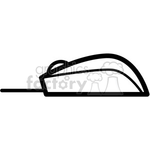 computer mouse side view vector icon clipart. Royalty-free image # 398850