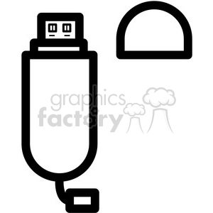 usb flash drive vector icon clipart. Royalty-free image # 398860