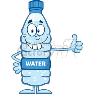 royalty free rf clipart illustration smiling water plastic bottle cartoon mascot character giving a thumb up vector illustration isolated on white clipart. Commercial use image # 398909