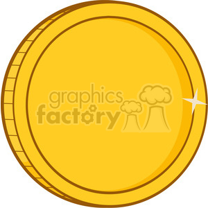 9245 royalty free rf clipart illustration golden coin vector illustration isolated on white background