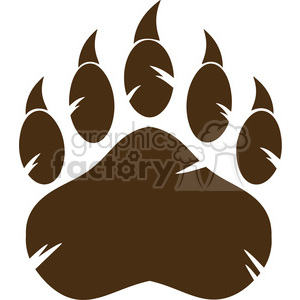 royalty free rf clipart illustration brown bear paw with claws vector illustration isolated on white background clipart. Royalty-free image # 398985