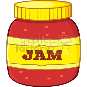 illustration cartoon jar with jam vector illustration isolated on white background clipart. Royalty-free image # 399475