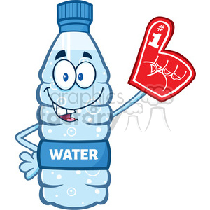 cartoon food dinner water bottle h2o 1