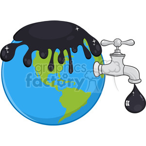 royalty free rf clipart illustration oil pouring over earth with faucet and petroleum drop design vector illustration isolated on white background clipart. Royalty-free image # 399555