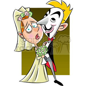 vector clipart image of anonymous wedding clipart. Royalty-free image # 400314