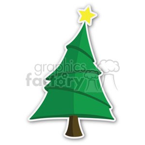 christmas tree sticker v6 clipart. Commercial use image # 400362