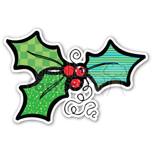 christmas holly berries clipart. Commercial use image # 400382
