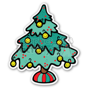 christmas tree sticker v2