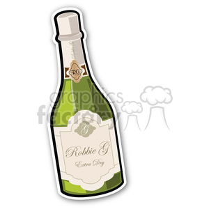 new years eve party bottle sticker clipart. Commercial use image # 400442
