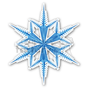 christmas snowflake sticker clipart. Royalty-free image # 400450