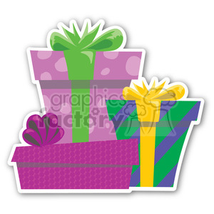 christmas gifts sticker clipart. Royalty-free image # 400458