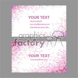 vector business card template set 047 clipart. Commercial use image # 401943