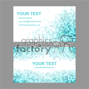vector business card template set 023 clipart. Commercial use image # 401948