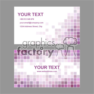 vector business card template set 003 clipart. Commercial use image # 401963