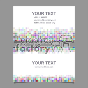 vector business card template set 052 clipart. Royalty-free image # 401968