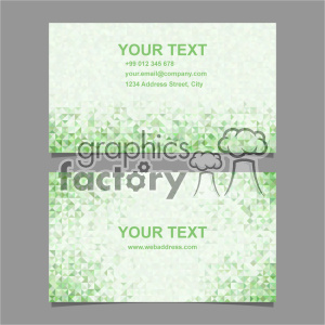 vector business card template set 065 clipart. Royalty-free image # 401973