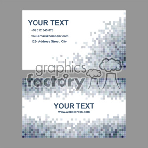vector business card template set 020 clipart. Royalty-free image # 401983