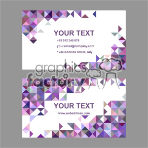 vector business card template set 042 clipart. Royalty-free image # 401998
