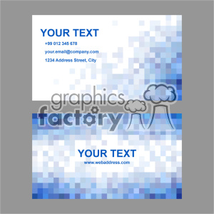 vector business card template set 008 clipart. Commercial use image # 402013