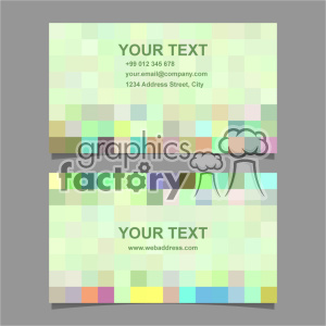 vector business card template set 060 clipart. Royalty-free image # 402028
