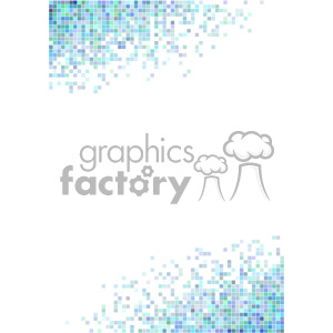 shades of blue pixel vector brochure letterhead document bottom top background template clipart. Royalty-free image # 402123