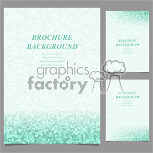 vector letter brochure template set 043 clipart. Royalty-free image # 402128