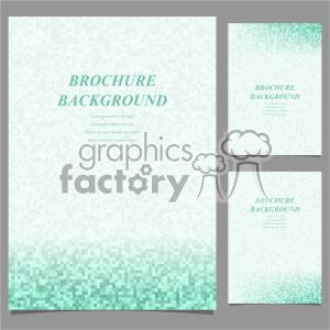 clipart - vector letter brochure template set 043.