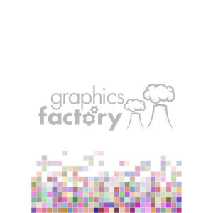 shades of colors pixel vector brochure letterhead document bottom background template clipart. Royalty-free image # 402248