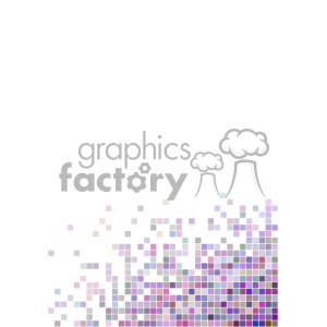 shades of purple pixel vector brochure letterhead document background bottom right corner template clipart. Royalty-free image # 402263