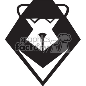 cartoon squre lion head svg cut file clipart. Royalty-free image # 402279