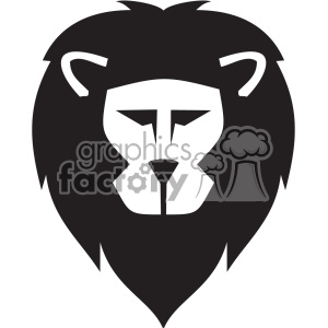 cartoon lion head svg cut file clipart. Royalty-free image # 402283