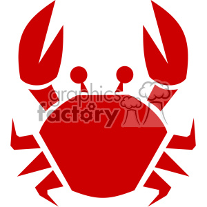 cartoon crab svg cut file clipart. Royalty-free image # 402285