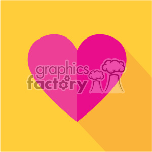 heart flat design vector icon art clipart. Commercial use image # 402295
