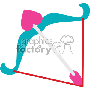 cupids bow and arrow svg cut files vector valentines die cuts clip art clipart. Royalty-free image # 402305