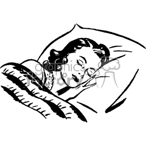 vintage women sleeping vector vintage 1900 vector art GF clipart. Commercial use image # 402443