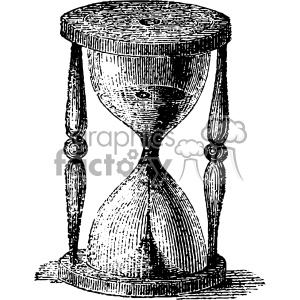 vintage retro old black+white hourglass time timer tattoo