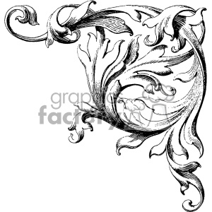 vintage distressed vintage wood corner carving right wedding ornament GF vector design vintage 1900 vector art GF clipart. Commercial use image # 402558